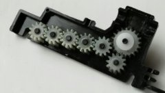 Complete original Heljan geartrain in place.