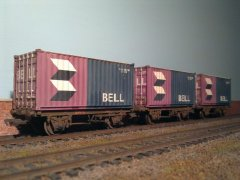 20FT Container Flats with BELL Containers.