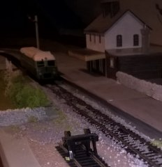 Buffer stops on siding ready for possible Arigna branch on David Holmans layout.