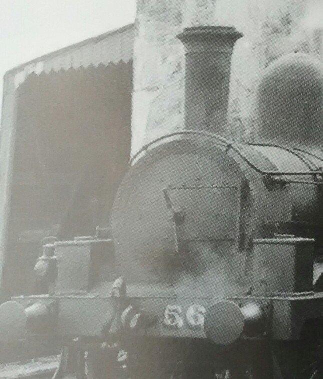 Cropped close-up showing smokebox front rivet pattern.  Original copyright of original photo: SLS
